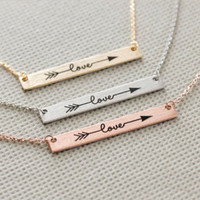 """""""Love"""" Dainty Necklace - Stainless Steel"""