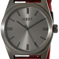 Neff Unisex NF0223GMMR Nightly Stainless Steel Watch with Nylon Band