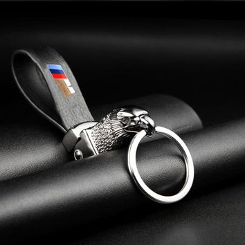 Eagle Head Car Styling Car Key Ring Holder Keychain Man's Strap Car Key Chains For BMW E39 E46 E60 E90 F10 F30 F18 E36 X Series