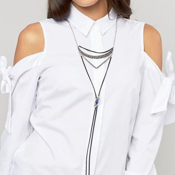 Ashiana Multi Layered Bolo Tie Necklace at asos.com