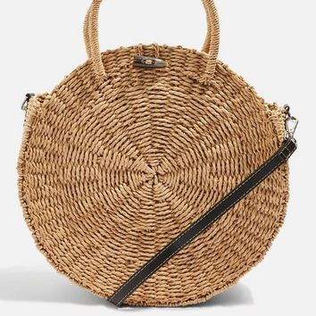 Bondi Round Straw Tote Bag - Shop All Sale - Sale