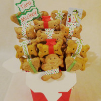 Christmas Dog biscuit treat dog gift basket, unique gift, custom, personalized, holiday, treats