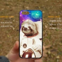 Star Sloth sloth in space, Starry sky iPhone 5s case,iPhone 5C ,Samsung Galaxy S3,S4 Case,iPhone 5 Case,iPhone 4,4s case,water proof,Gifts