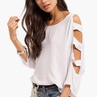 Up The Ladder Sleeve Top $30