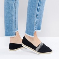 New Look Wide Fit Nautical Espadrille at asos.com