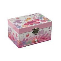 Mele & Co. Ashley Girl's Musical Ballerina Fairy and Flowers Jewelry Box