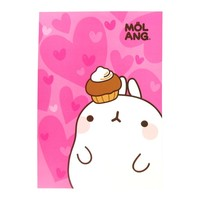 Molang A4 Size Notebook - Molang and Lovely Cupcake