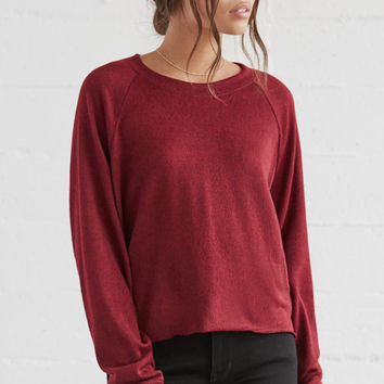 LA Hearts Cropped Crew Neck Sweatshirt at PacSun.com