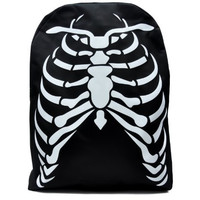 Deathrock Skeleton Rib Cage School Backpack