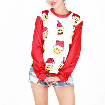 ONETOW Ugly Christmas Sweater  On Sale Winter Costume Cartoons Christmas Tops Santa Custome [9475941316]
