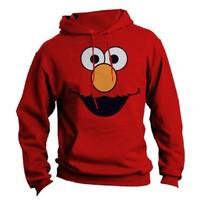 Sesame Street Adult Red Elmo Sweatshirt with Hoodies Medium
