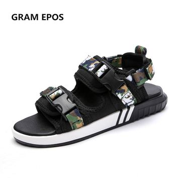 GRAM EPOS Unisex Summer Shoes men camouflage green sandals For School Street style Casual cool slippers Seaside Beach Soft shoes