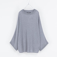 BOAT NECK PONCHO - Knitwear - Woman | ZARA United States