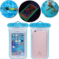 Universal Waterproof Phone Bag Case Transparent Pouch Phone Case for iPhone 6 6s iPhone5 5s 7 7Plus for Samsung Xiaomi Cellphone