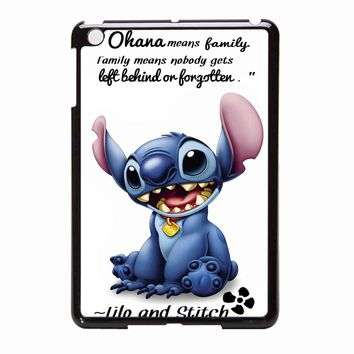 Lilo And Stitch Ohana Means Family Quote iPad Mini Case