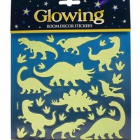 Glitter & Glow Wall Decals - Small Dinosaurs