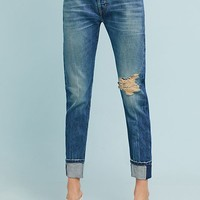 Current/Elliot The Selvedge High-Rise Straight Cropped Jeans