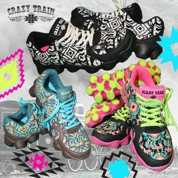Train Like Crazy Aztec Tennis Shoes