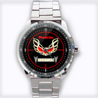 Pontiac Trans Am Firebird logo Custom Stainless Steel Watch