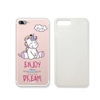 Cute Unicorn Enjoy And Dream Slim Iphone 7 Case, Clear Iphone Hard Cover Case For Apple Iphone 6 Emerishop (iphone 7)