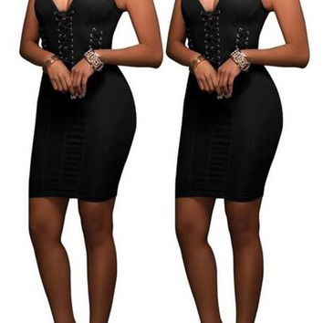 Streetstyle  Casual Black Plain Cut Out Zipper Backless Sleeveless Bodycon Denim Mini Dress