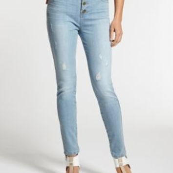 1981 High-Rise Button-Front Skinny Jeans in Otis Wash