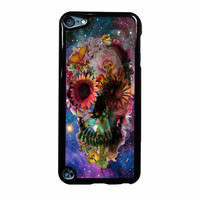 Floral Sugar Skull On Galaxy iPod Touch 5th Generation Case