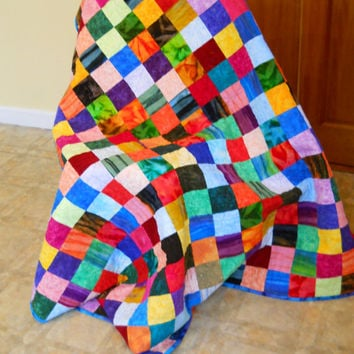 Child's Quilt, Lap Quilt, Single Bed Quilt, Made in Flannels for extra warmth and comfort
