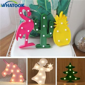 Luminaria Unicorn LED Flamingo Night Lights Party Moon Cloud 3D Table Lamp Marquee Sign Letter Light Decor XMAS Christmas Gifts