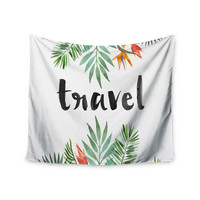 "KESS Original ""Travel"" Green White Wall Tapestry"