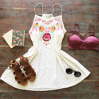 A Crepe Floral Swing Dress