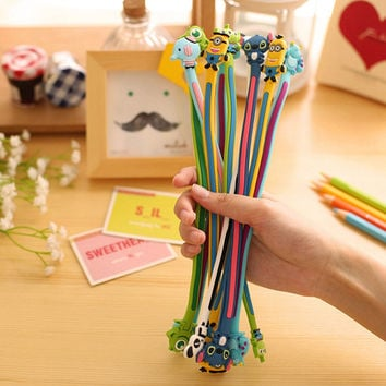 Cute Cartoon Animal Long Cable Winder Headphone Earphone Organizer Wire Holder Home Office Storage Organization
