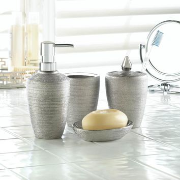 SILVER SHIMMER BATH ACCESSORIES
