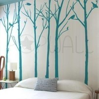 Removable Vinyl wall sticker decal Art  Leafy Winter by NouWall