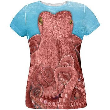 Halloween Octopus Costume All Over Womens T Shirt