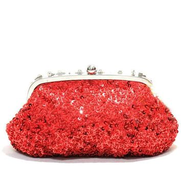New Diamond Full Of Beads Sequins Handbag Gorgeous Red Bride Purse Gift Bag Retro Bag Women's Evening Bags Sac Mujer Bolsas Gift