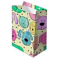 Cute Colorful Pet Pattern Gift Bag