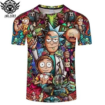 Rick and Morty Universe Schwifty Characters T Shirt
