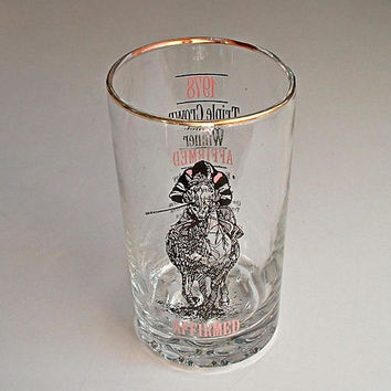 Affirmed  Horse Racing Glass  Belmont Park 1978 Tumbler Triple Crown Racing Kentucky Derby