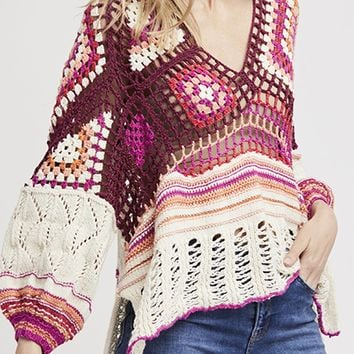 Call Me Crochet Top - Multi by Free People