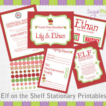 Christmas Elf Printable Stationary - Enhance your Elf on the Shelf magic