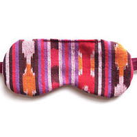 Cotton Flannel Sleep Eye Mask Aztec Mexican Ethnic Tribal Fabric Blindfold Night