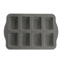 Evelots 8 Cup Non-Stick Mini Loaf/Brownie Pan, Cooking & Baking Pans, Silver