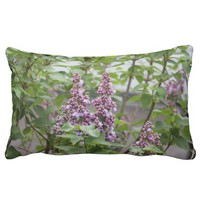 Lilac / Syringa Throw Pillow