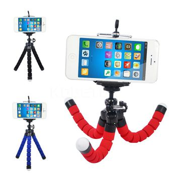 Flexible Octopus Tripod Stand Holder Bracket Selfi for Iphone Samsung Cell Phone for Gopro Hero 3 4 Xiaomi Yi Dslr Camera Mount
