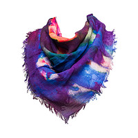 Purple multi Night Sky Scarf by French Connection