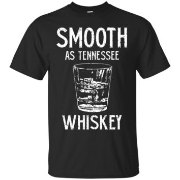 mooth as Tennessee Whiskey Drinking Glass Vintage Style Distressed T-Shirt