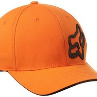 Fox Men's Signature Flexfit Hat, Orange, Large/X-Large