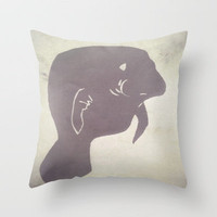 Manatee Throw Pillow by Elyse Notarianni | Society6