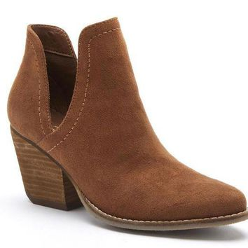 ICIKAB3 Coconuts by Matisse Trader Saddle Deep V Cut-Out Booties